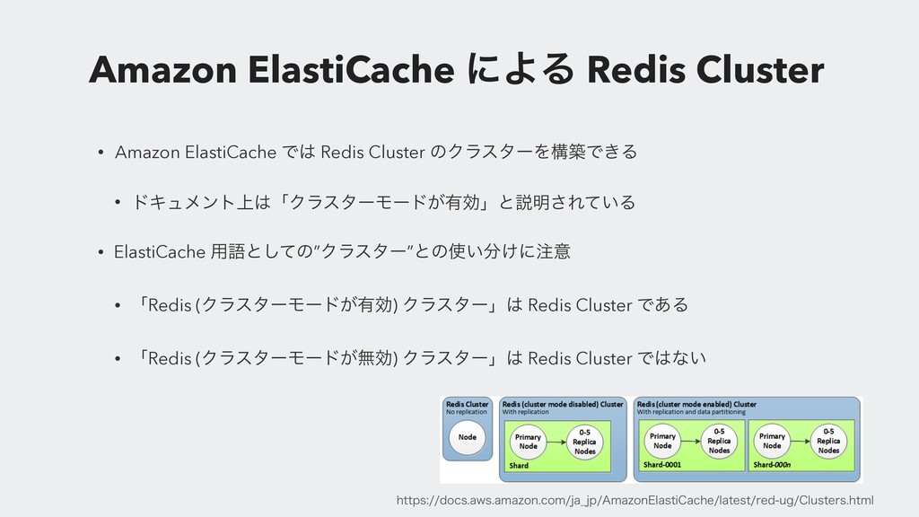 Amazon ElastiCache ʹΑΔ Redis Cluster • Amazon E...
