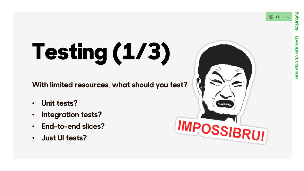 LEAN SERVICE CREATION Testing (1/3) With limite...