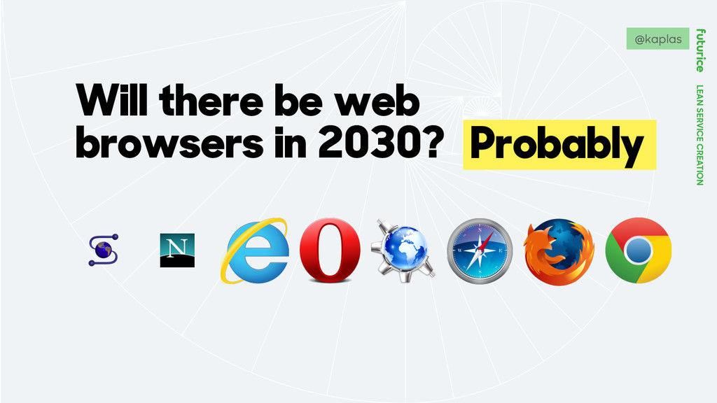 LEAN SERVICE CREATION Will there be web browser...