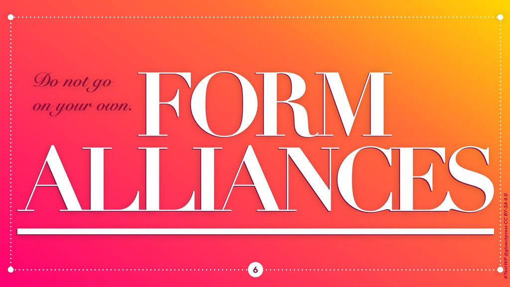 FORM FORM S ALLIANCE ALLIANCES #TextWP @glueckp...