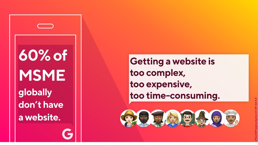 60% of MSME globally don't have a website. #Tex...