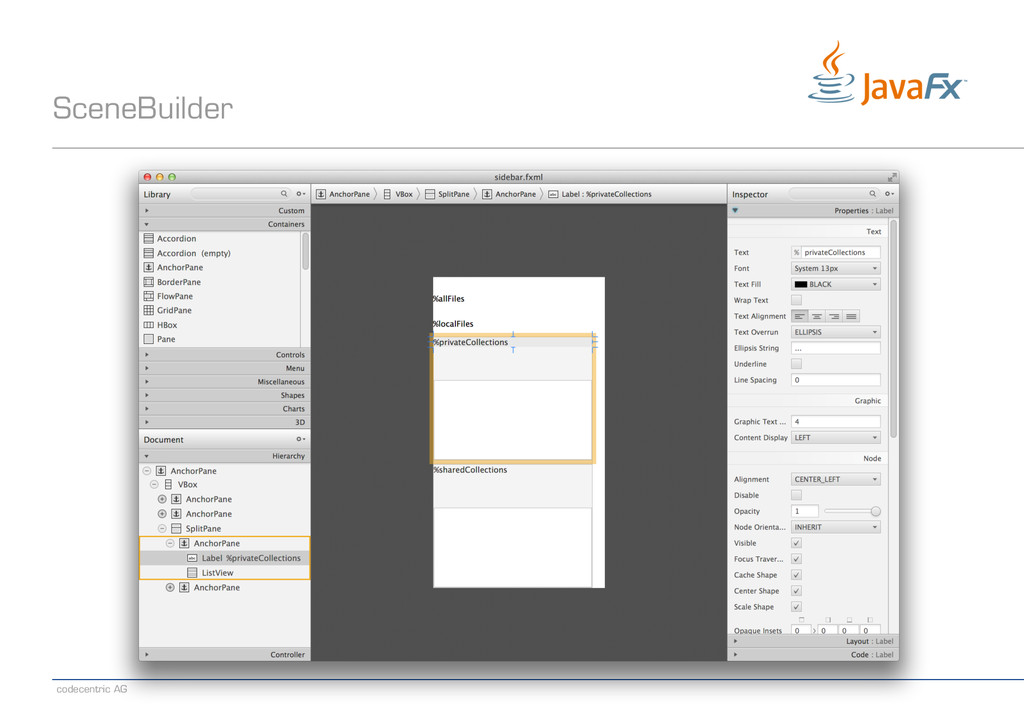 codecentric AG SceneBuilder