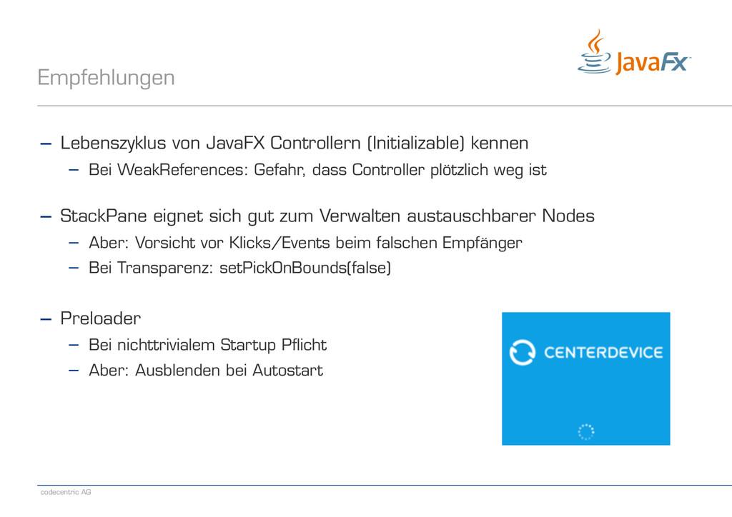codecentric AG Empfehlungen − Lebenszyklus von ...