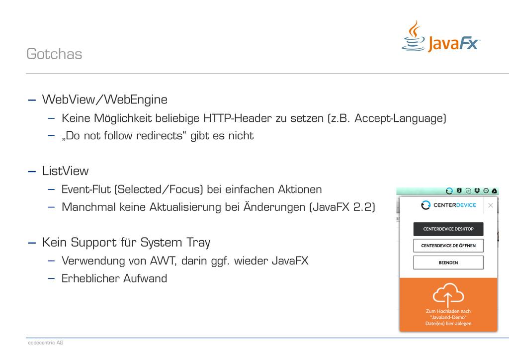 codecentric AG Gotchas − WebView/WebEngine − Ke...