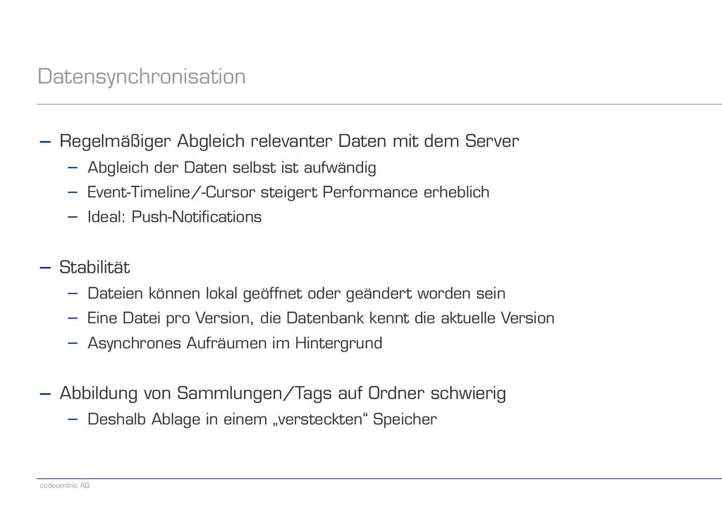 codecentric AG Datensynchronisation − Regelmäßi...
