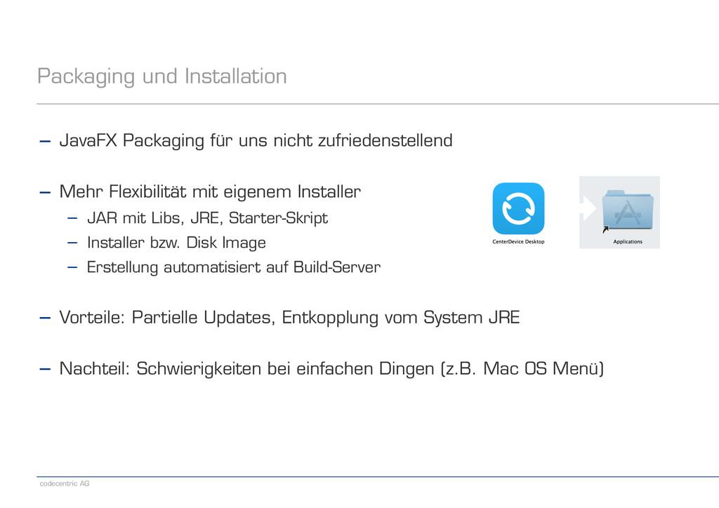 codecentric AG Packaging und Installation − Jav...