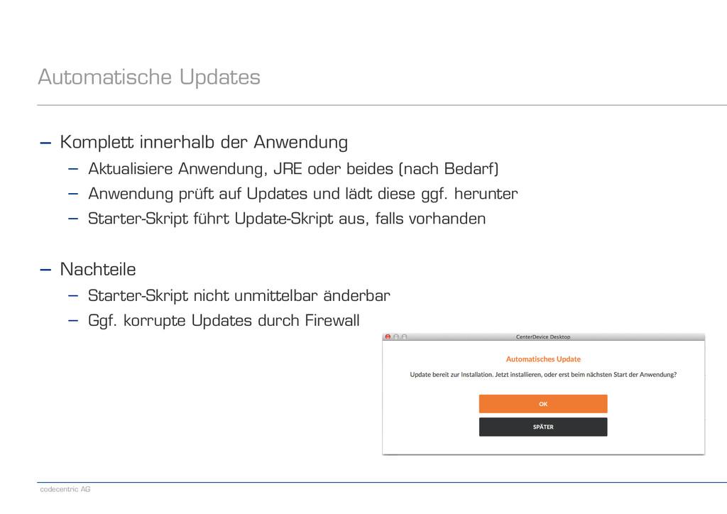 codecentric AG Automatische Updates − Komplett ...