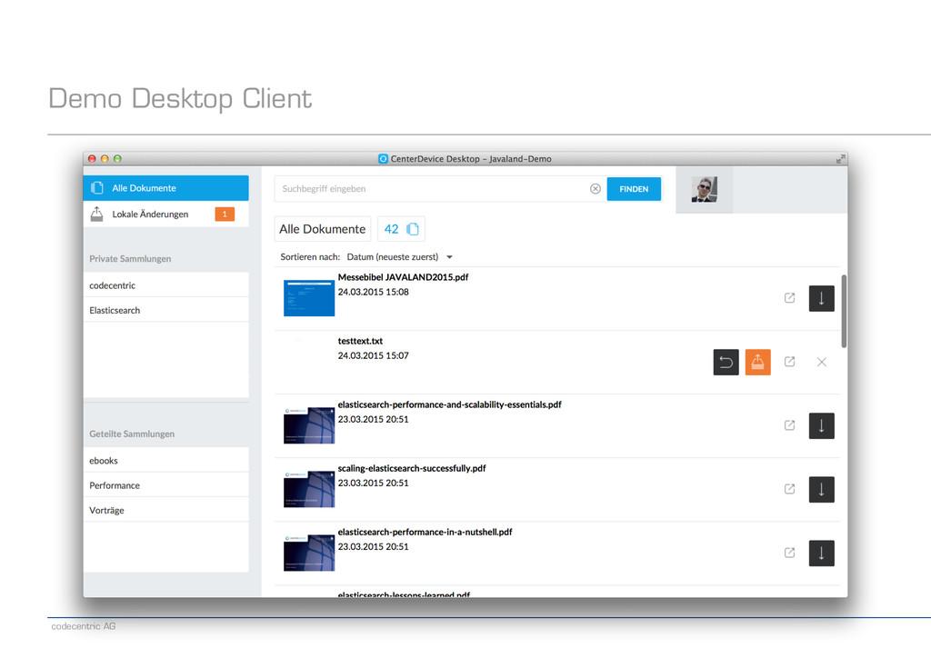 codecentric AG Demo Desktop Client
