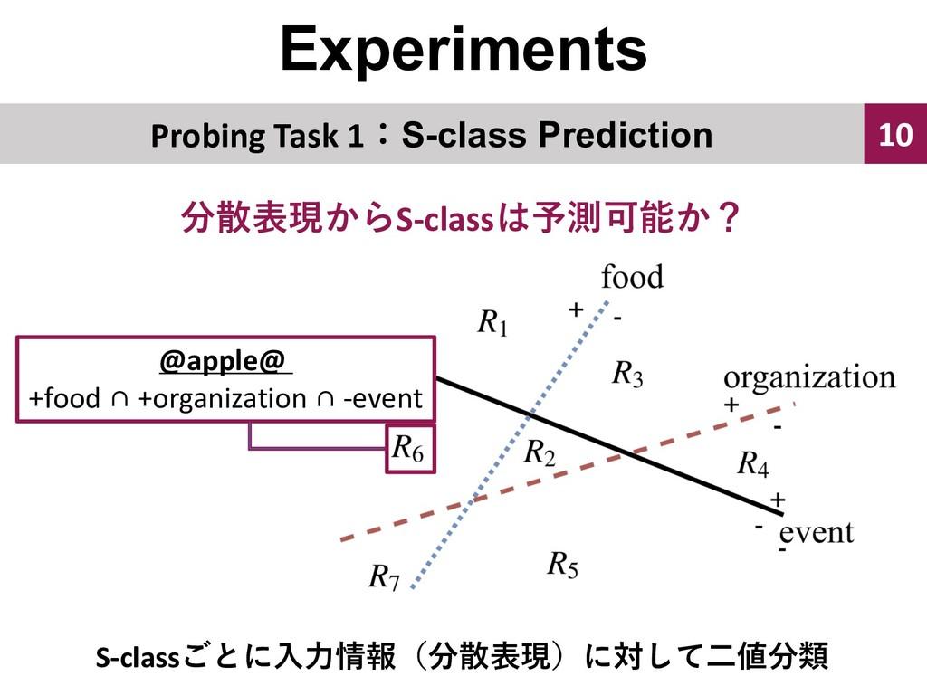Experiments 10 Probing Task 1S-class Predictio...