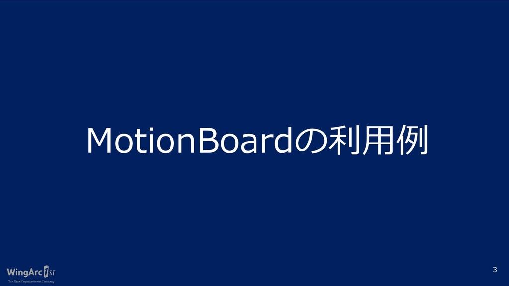 3 MotionBoardの利用例