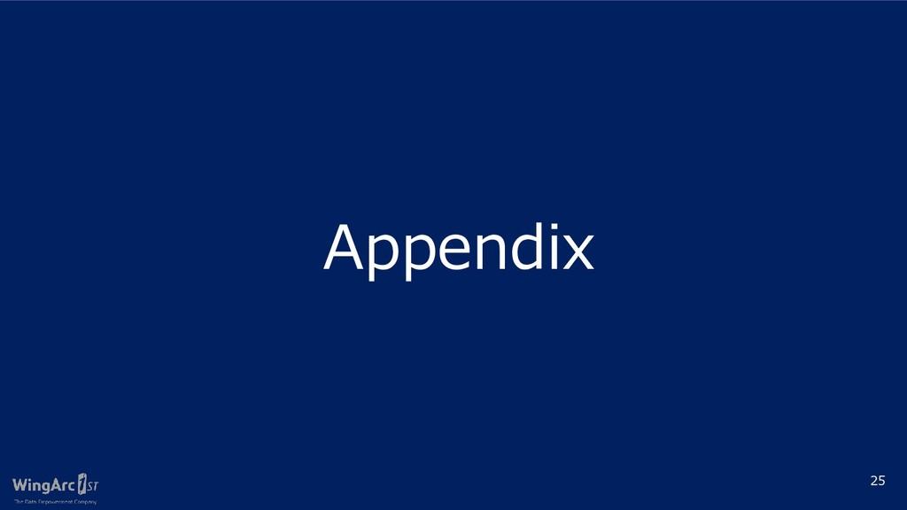 25 Appendix