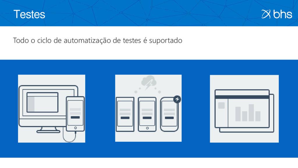 Testes Todo o ciclo de automatização de testes ...