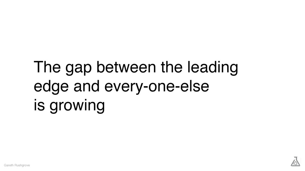 The gap between the leading edge and every-one-...