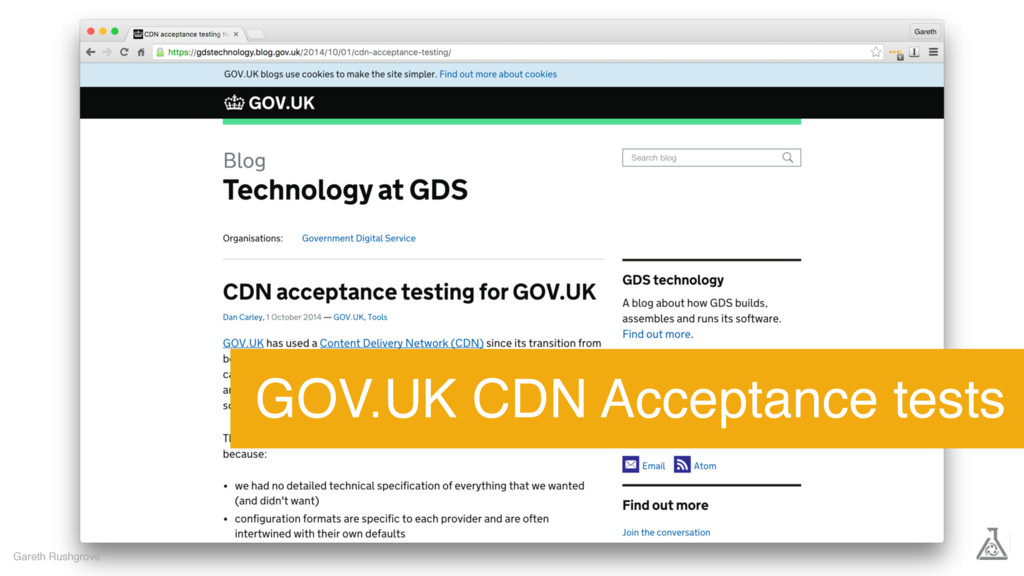 Gareth Rushgrove GOV.UK CDN Acceptance tests
