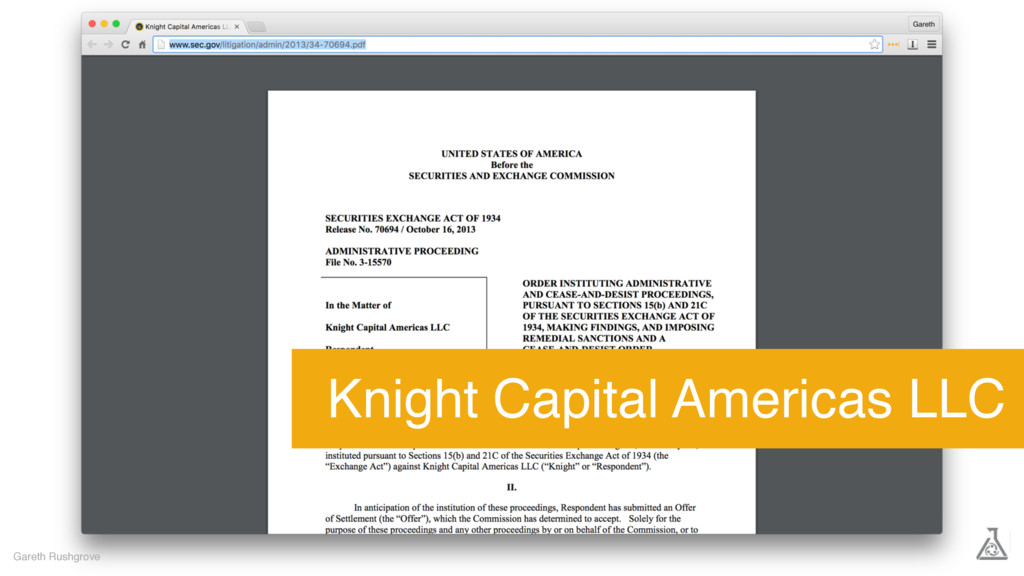 Gareth Rushgrove Knight Capital Americas LLC