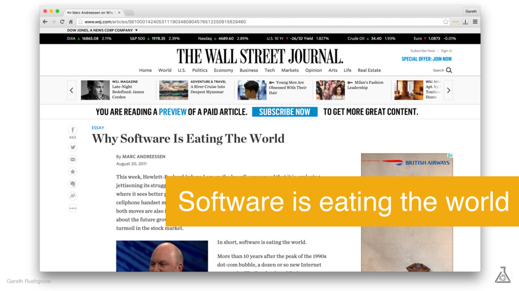 Gareth Rushgrove Software is eating the world