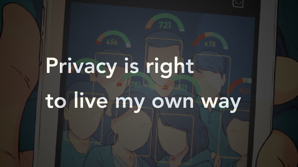 Privacy is right to live my own way