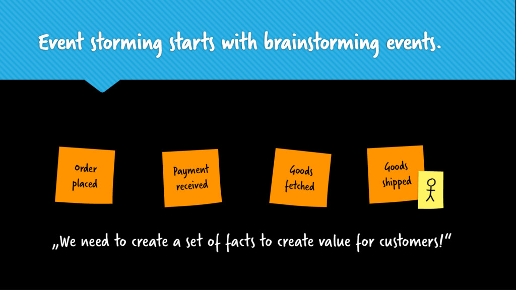 Event storming starts with brainstorming events...