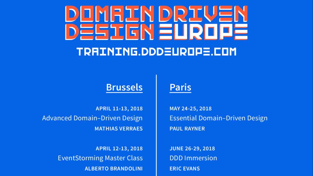 Brussels APRIL 11-13, 2018 Advanced Domain–Driv...