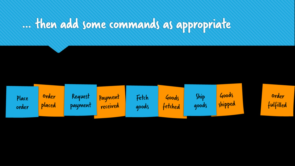 … then add some commands as appropriate Goods s...
