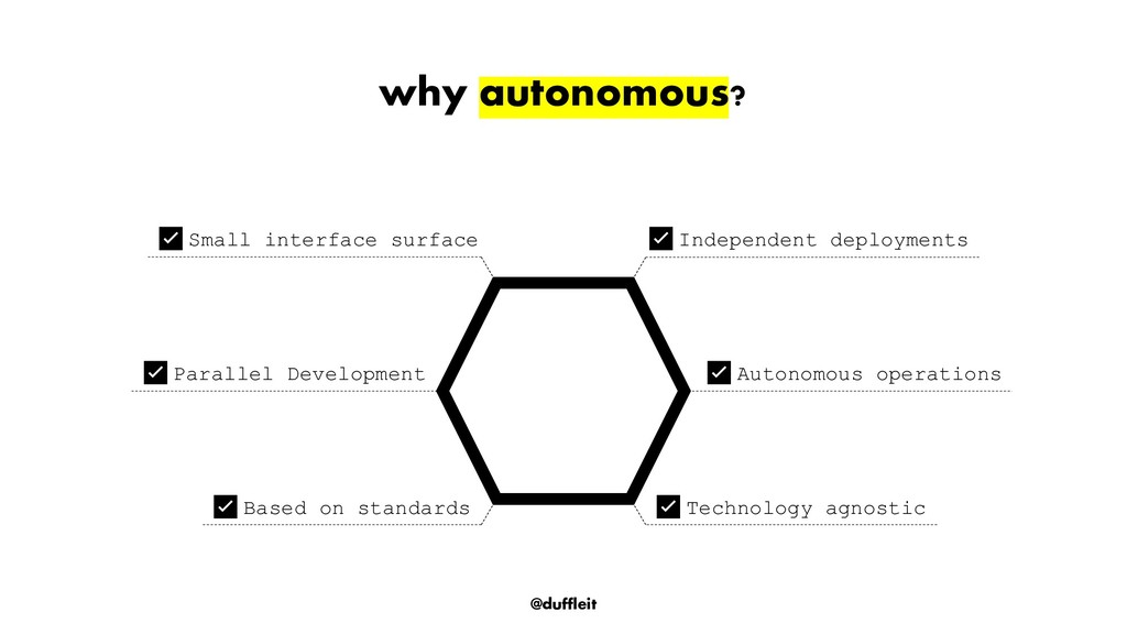 @duffleit why autonomous? ✅Independent deployme...