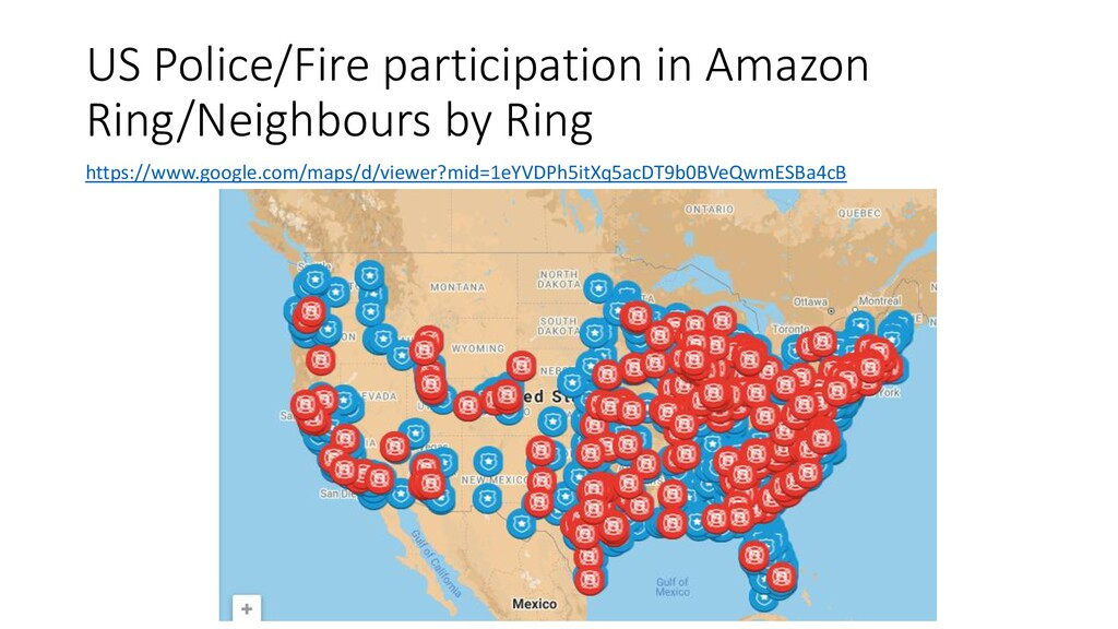 US Police/Fire participation in Amazon Ring/Nei...