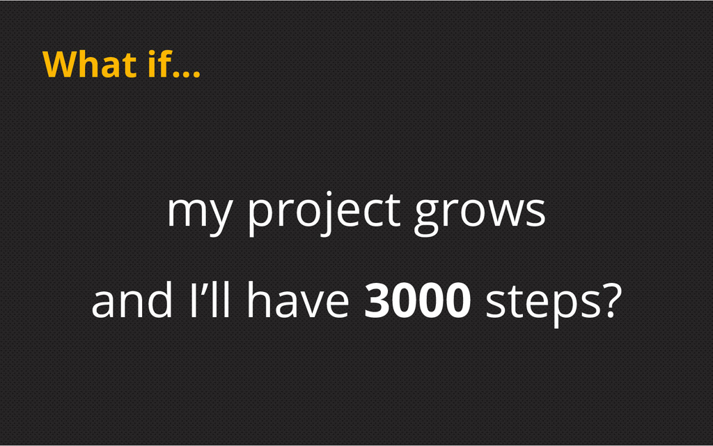 What if... my project grows and I'll have 3000 ...