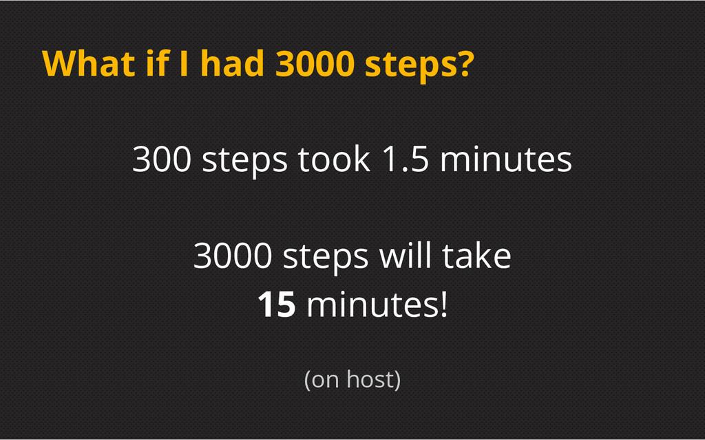 What if I had 3000 steps? 300 steps took 1.5 mi...