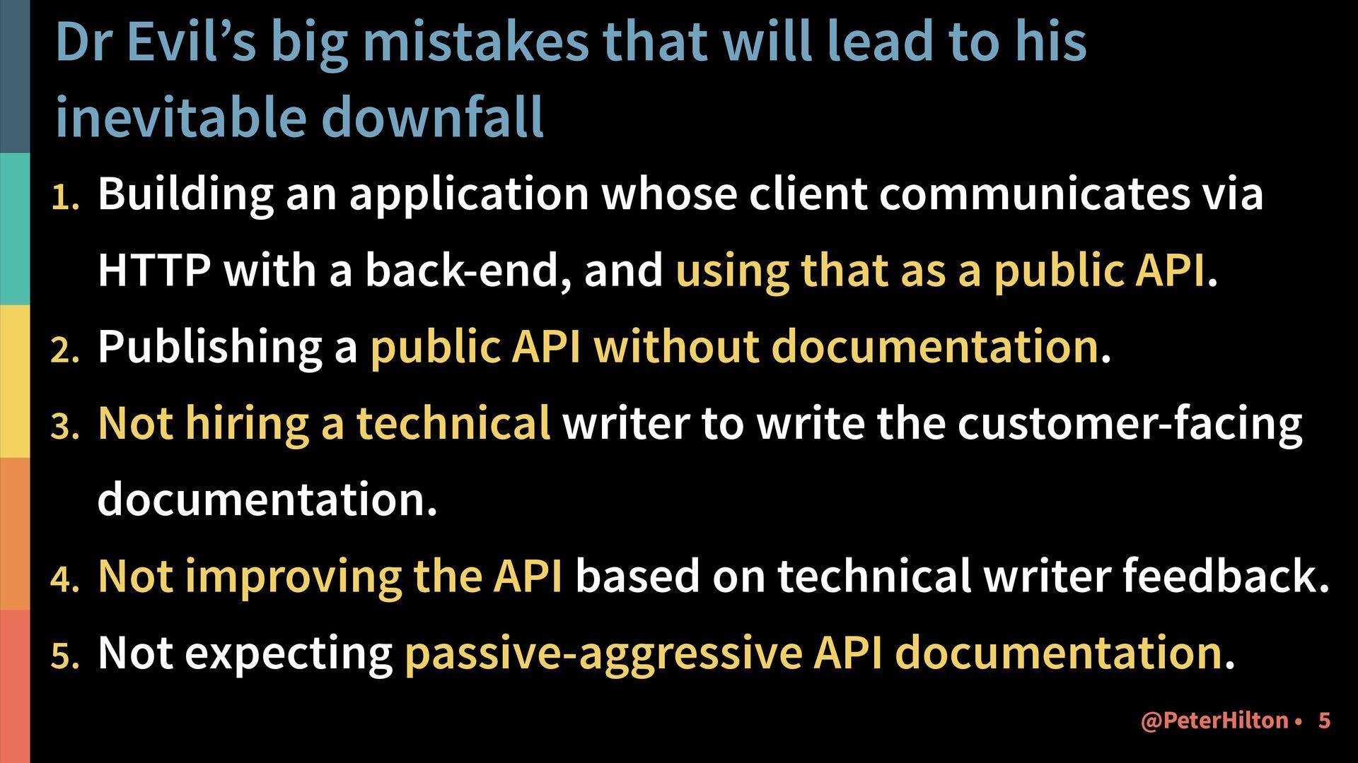 Dr Evil's big mistakes