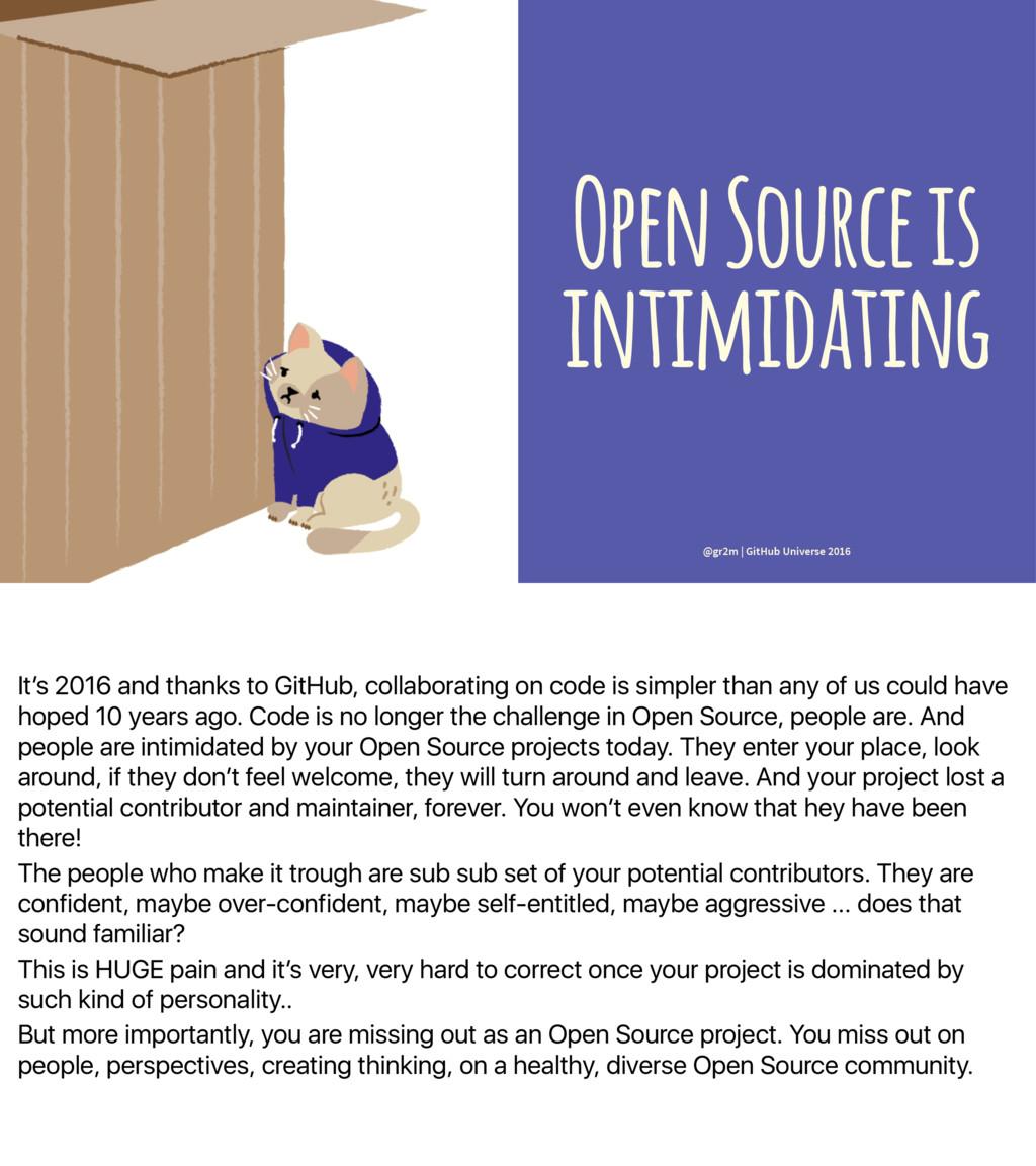 It's 2016 and thanks to GitHub, collaborating o...