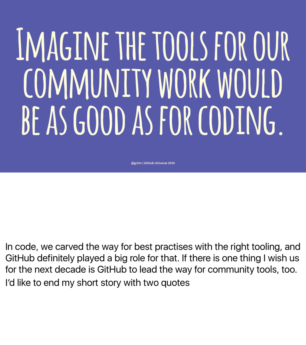 In code, we carved the way for best practises w...