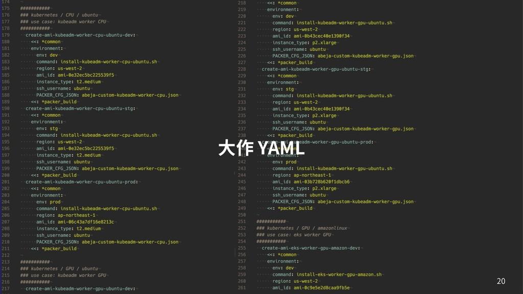 ⼤作 YAML 20