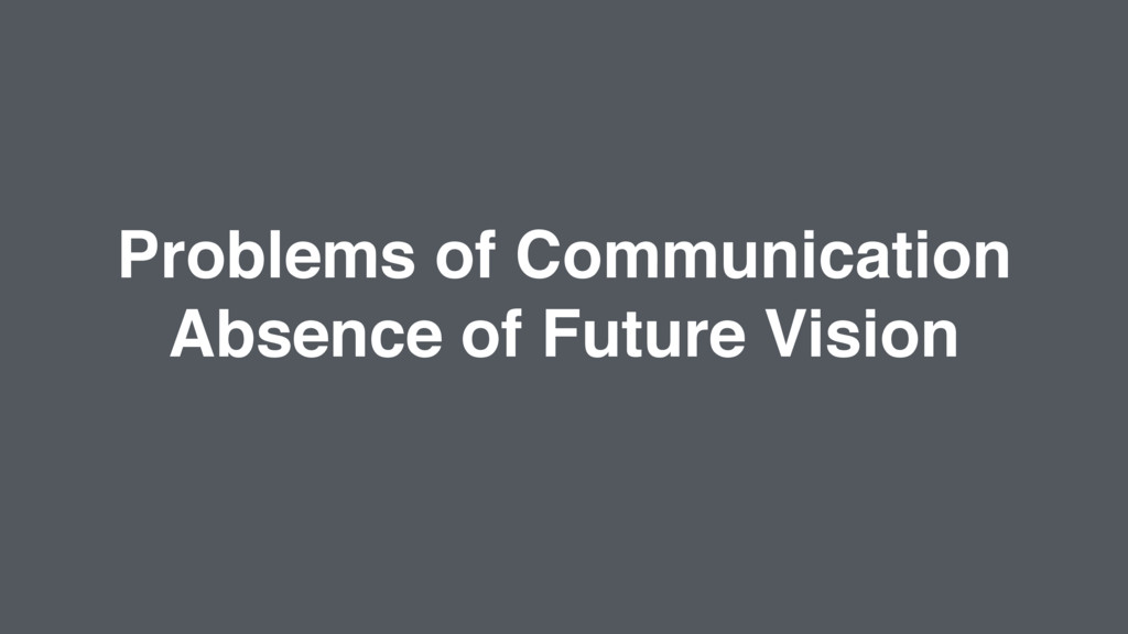 Problems of Communication Absence of Future Vis...