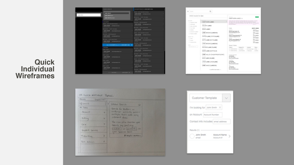 Quick Individual Wireframes