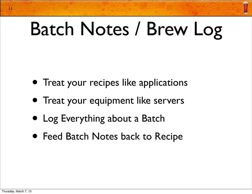 Batch Notes / Brew Log • Treat your recipes lik...