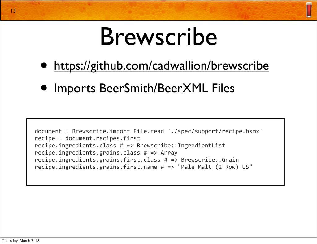 Brewscribe • https://github.com/cadwallion/brew...