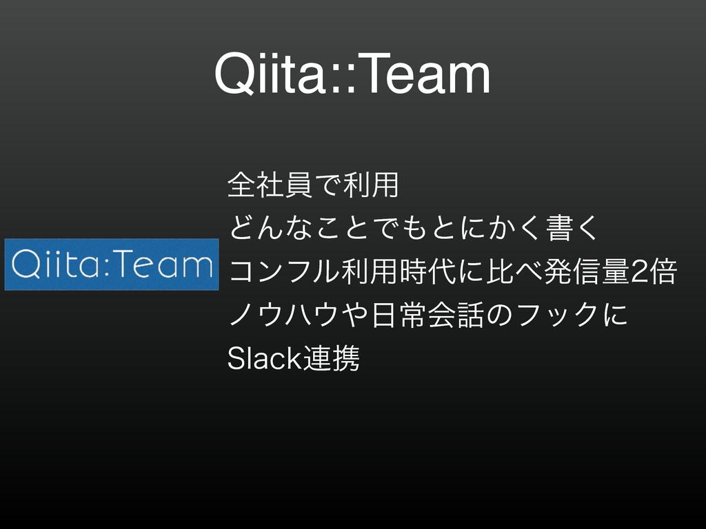 Qiita::Team શࣾһͰར༻ ͲΜͳ͜ͱͰͱʹ͔͘ॻ͘ ίϯϑϧར༻ʹൺൃ...