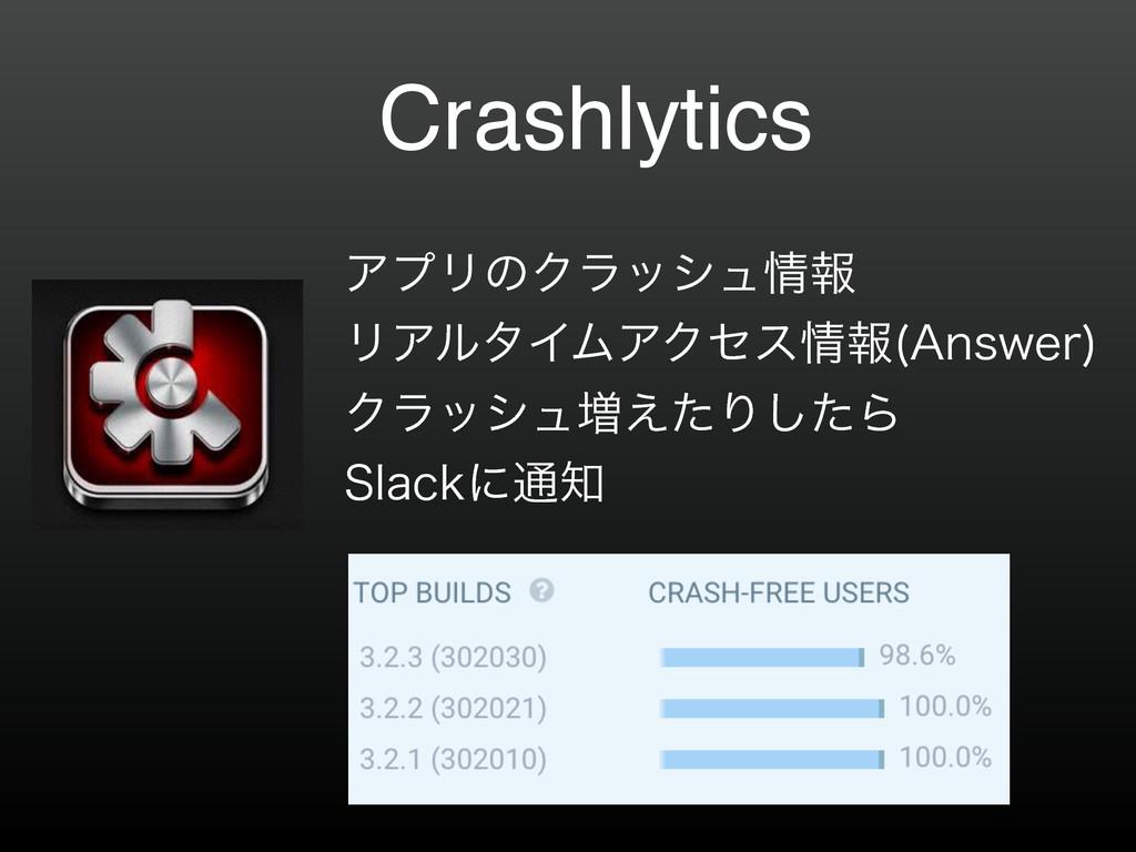 "Crashlytics ΞϓϦͷΫϥογϡใ ϦΞϧλΠϜΞΫηεใ ""OTXFS  ..."