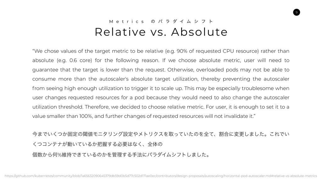 Relative vs. Absolute M e t r i c s ͷ ύ ϥ μ Π Ϝ...