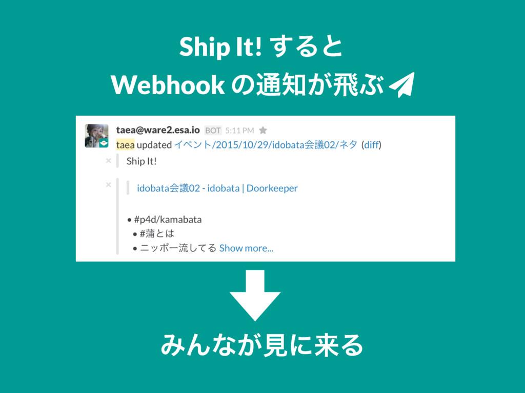 Ship It! ͢Δͱ Webhook ͷ௨͕ඈͿ ƻ ΈΜͳ͕ݟʹདྷΔ
