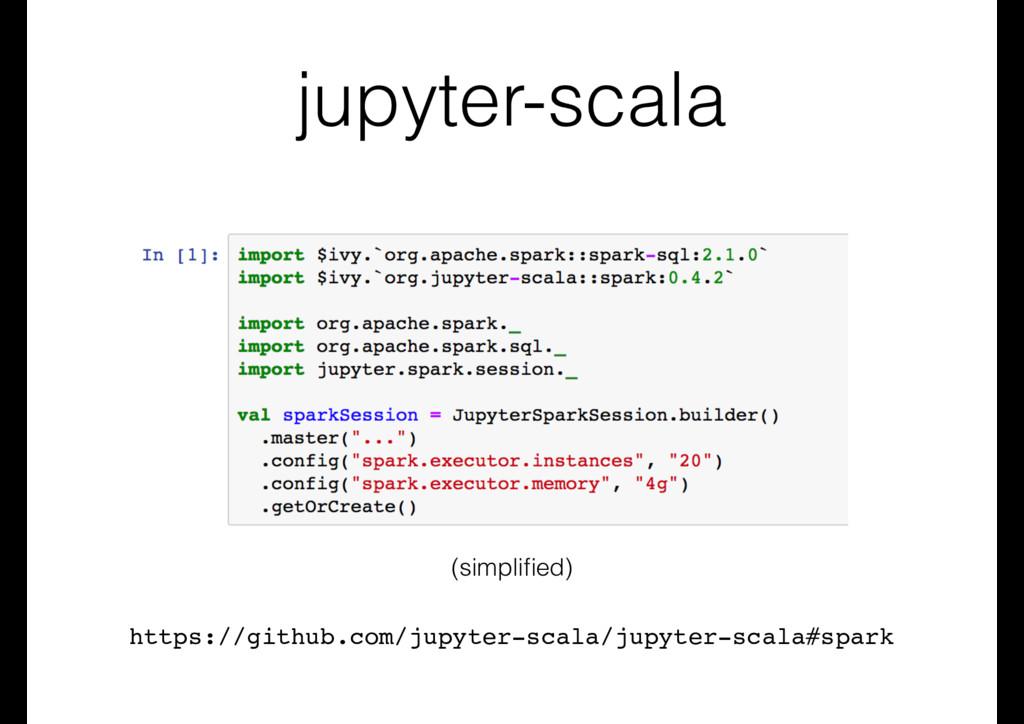 jupyter-scala (simplified) https://github.com/ju...