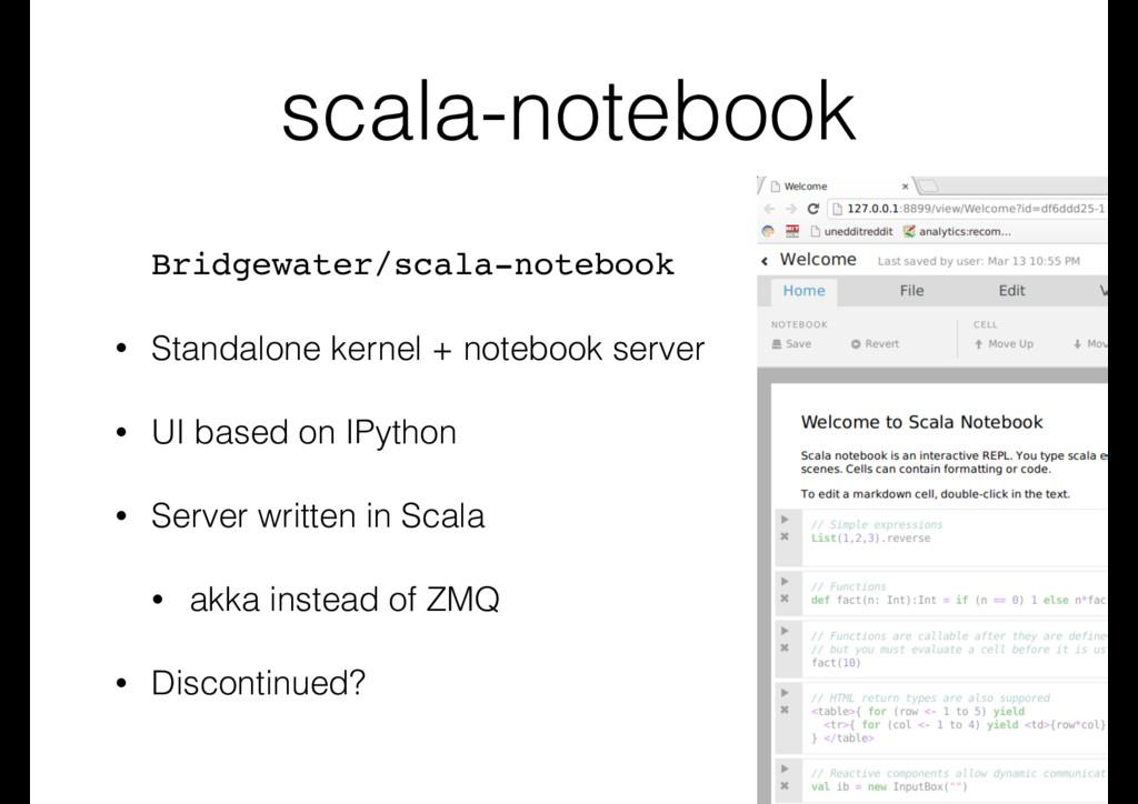 scala-notebook Bridgewater/scala-notebook • Sta...