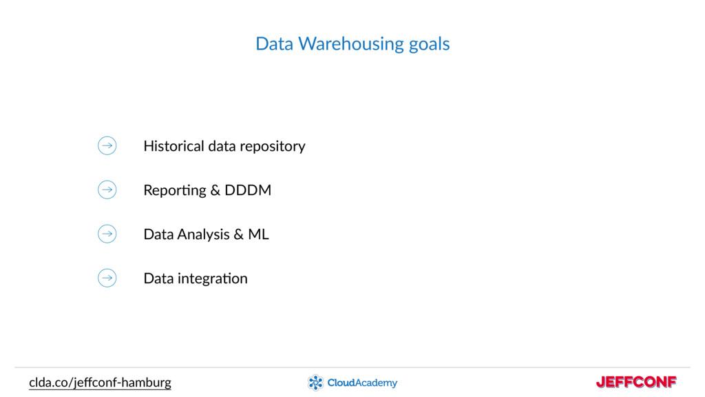Data Warehousing goals clda.co/jeffconf-hamburg ...