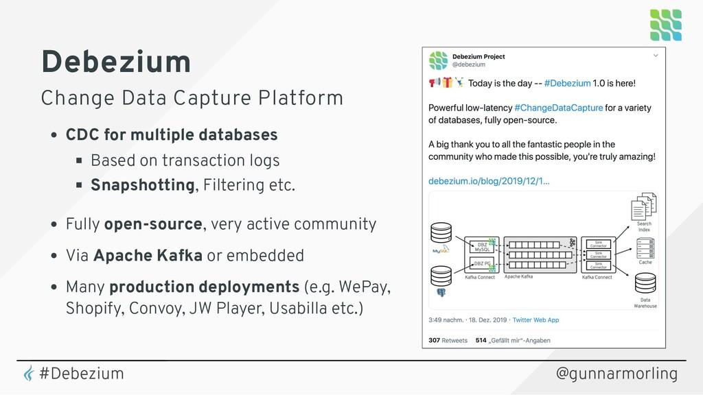 Debezium Change Data Capture Platform CDC for m...