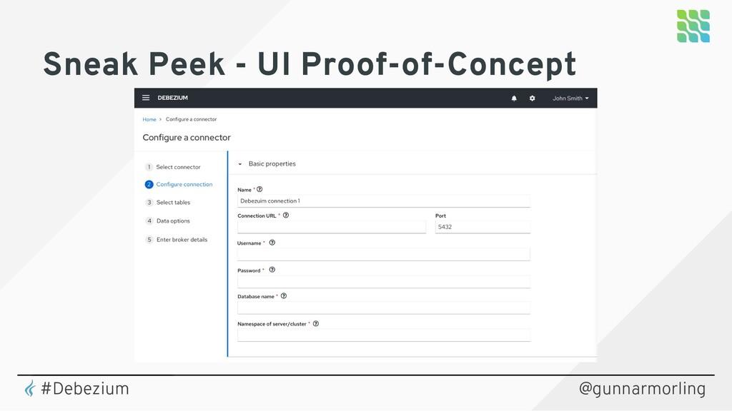 Sneak Peek - UI Proof-of-Concept @gunnarmorling...