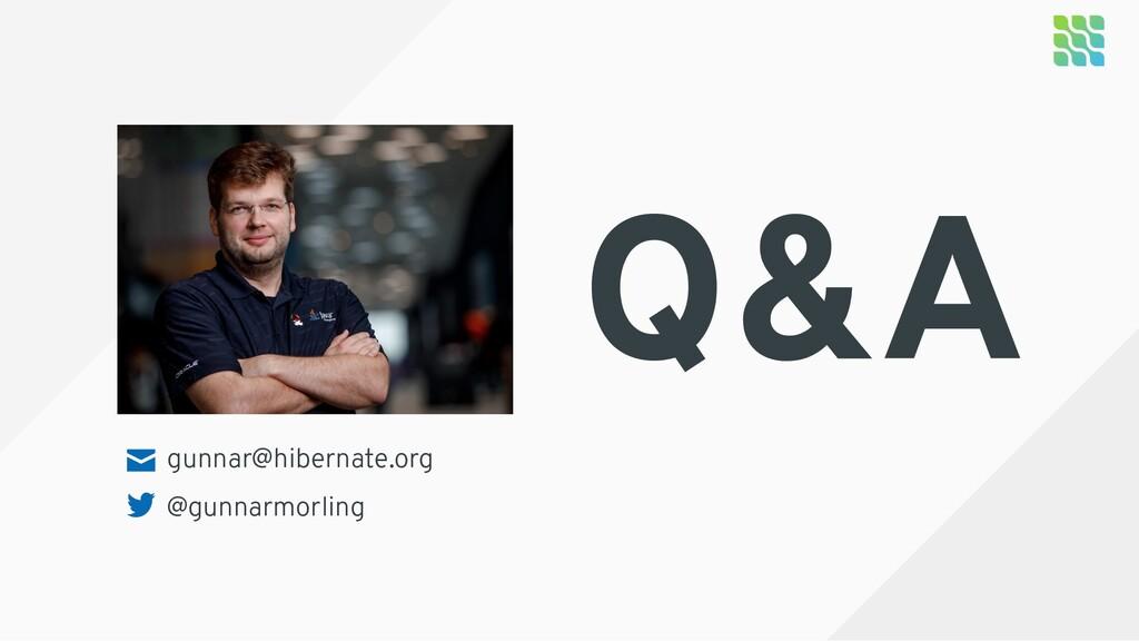 gunnar@hibernate.org @gunnarmorling Q&A