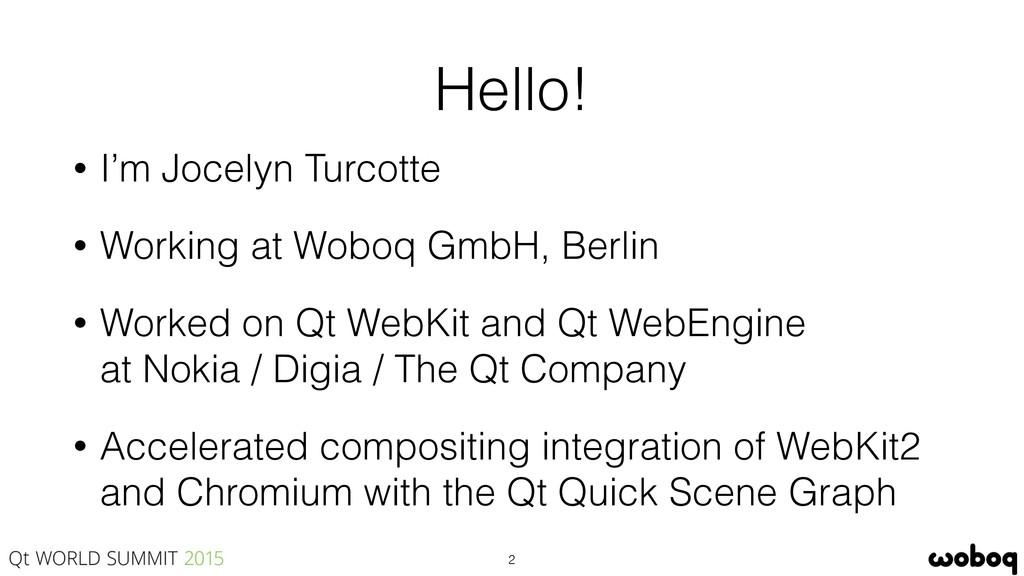 Hello! • I'm Jocelyn Turcotte • Working at Wobo...