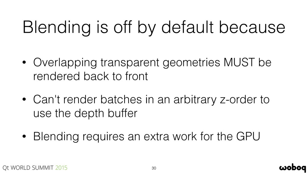 Blending is off by default because • Overlappin...