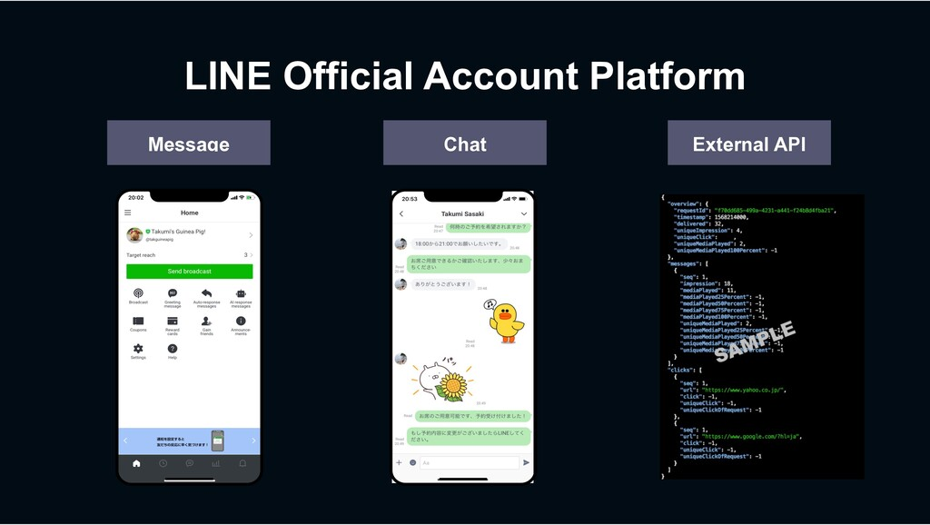 LINE Official Account Platform Message Chat Ext...