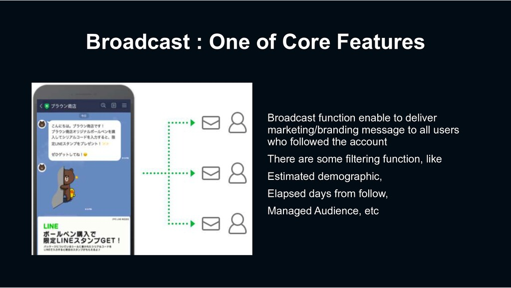 Broadcast : One of Core Features Broadcast func...